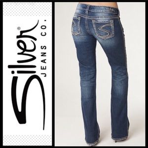 Silver Jeans FRANCES Distressed Bootcut Jeans 28